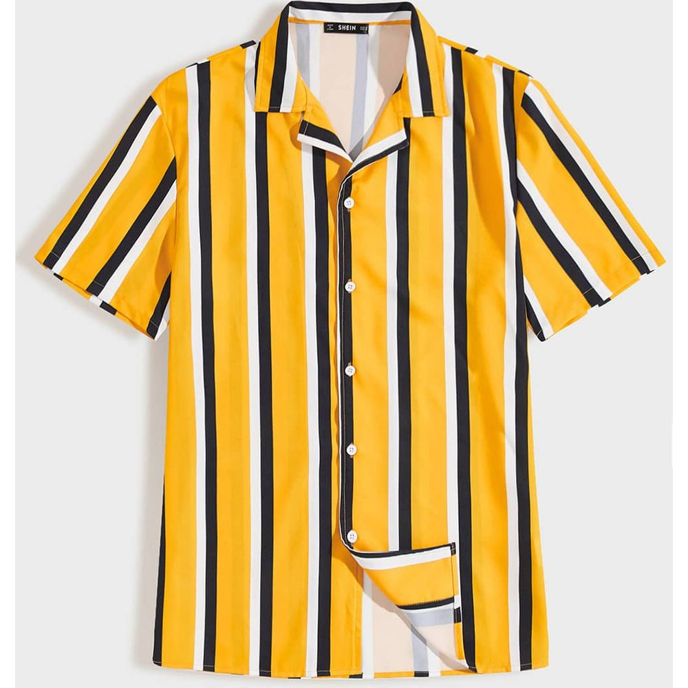 Chemise à rayures - SHEIN - Modalova