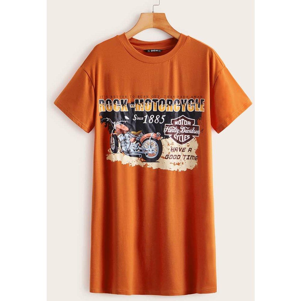 Robe t-shirt à imprimé graphique - SHEIN - Modalova