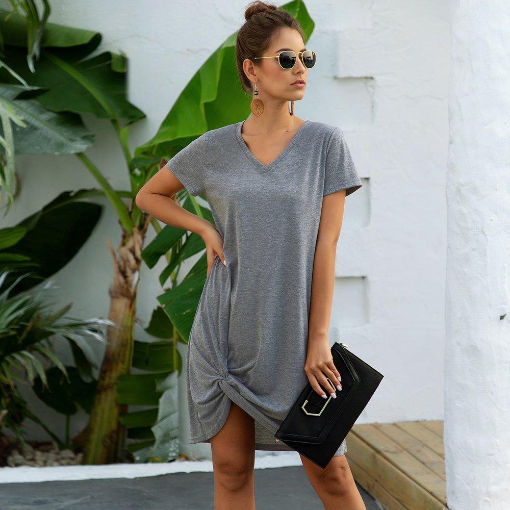Robe t-shirt chiné - SHEIN - Modalova