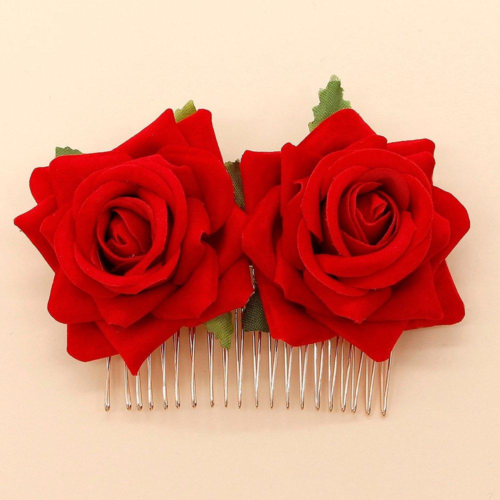 Pince à cheveux avec détail de rose - SHEIN - Modalova