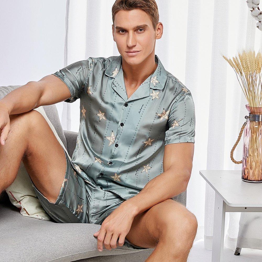 Ensemble de pyjama avec imprimé géométrique - SHEIN - Modalova