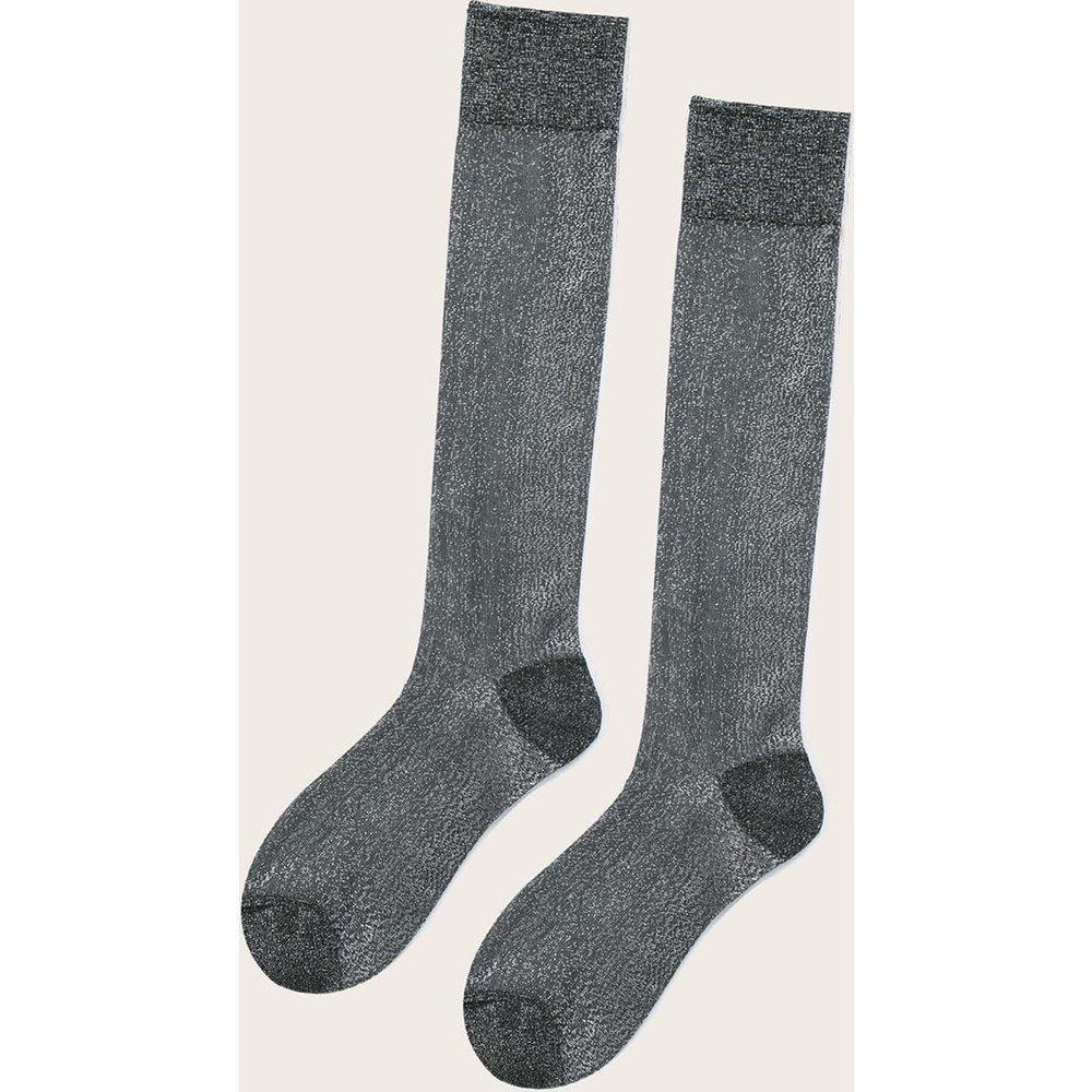 Chaussettes soyeuses métalliques - SHEIN - Modalova