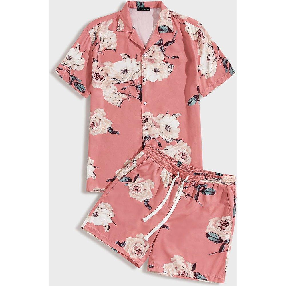 Ensemble chemise fleurie et short - SHEIN - Modalova
