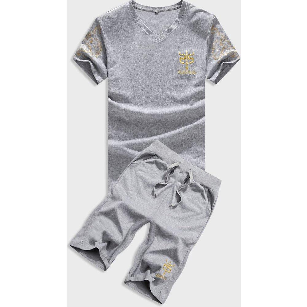 Ensemble t-shirt & short avec broderies - SHEIN - Modalova