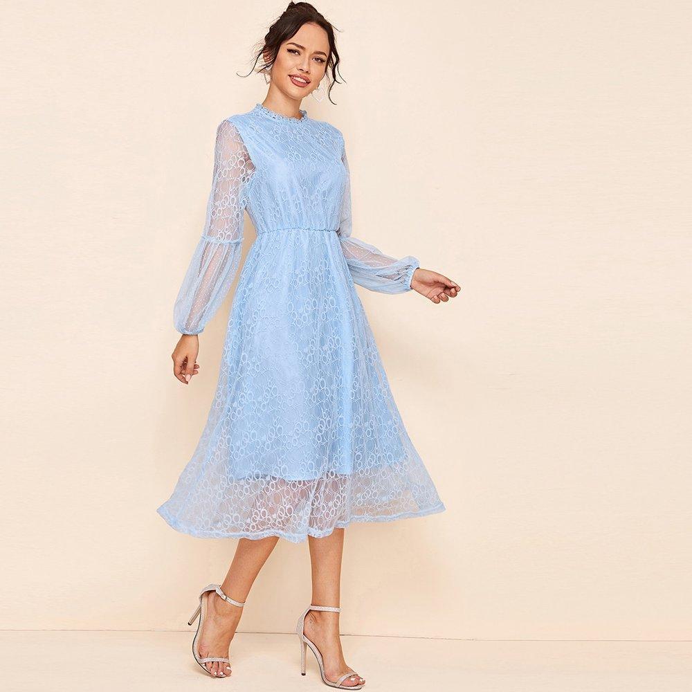 Robe avec dentelle - SHEIN - Modalova