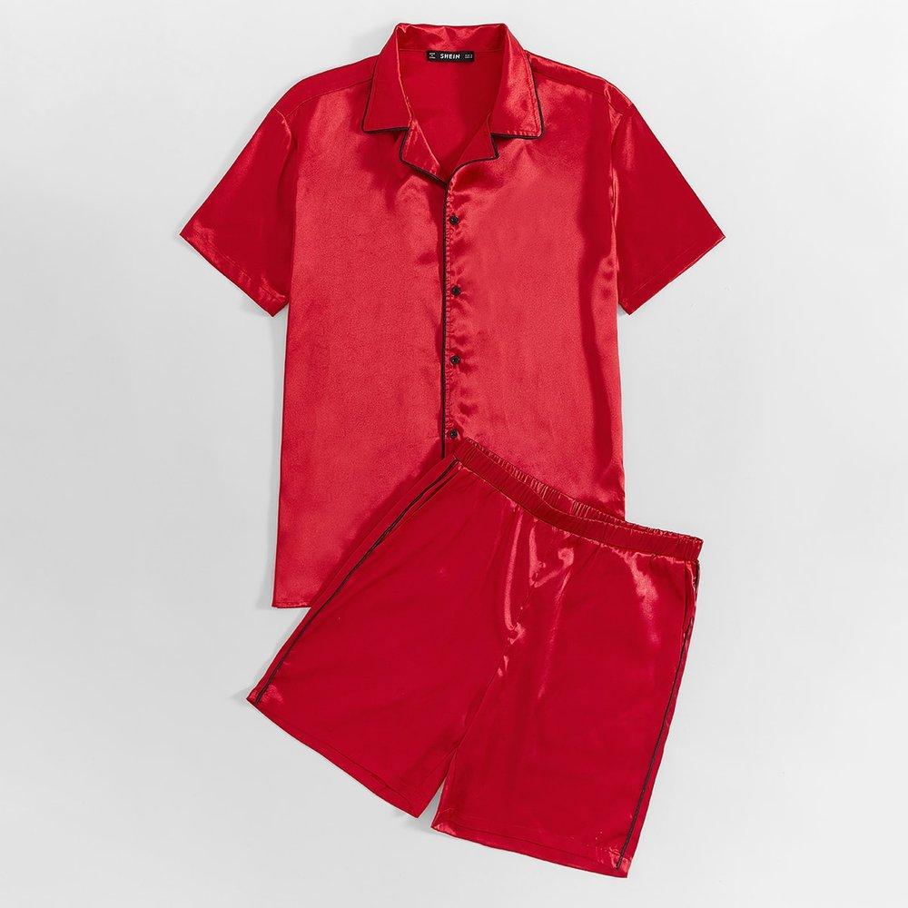 Ensemble de pyjama chemise & short - SHEIN - Modalova
