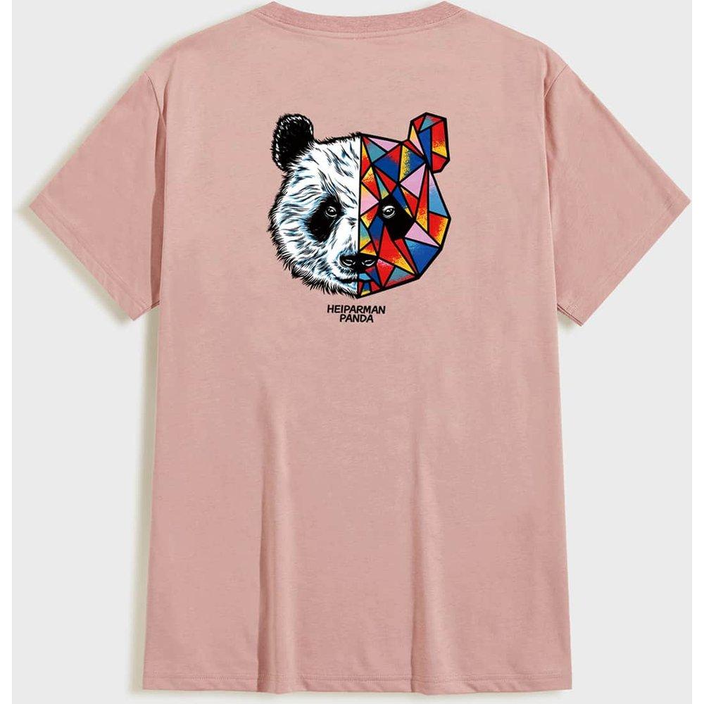 T-shirt à imprimé panda - SHEIN - Modalova