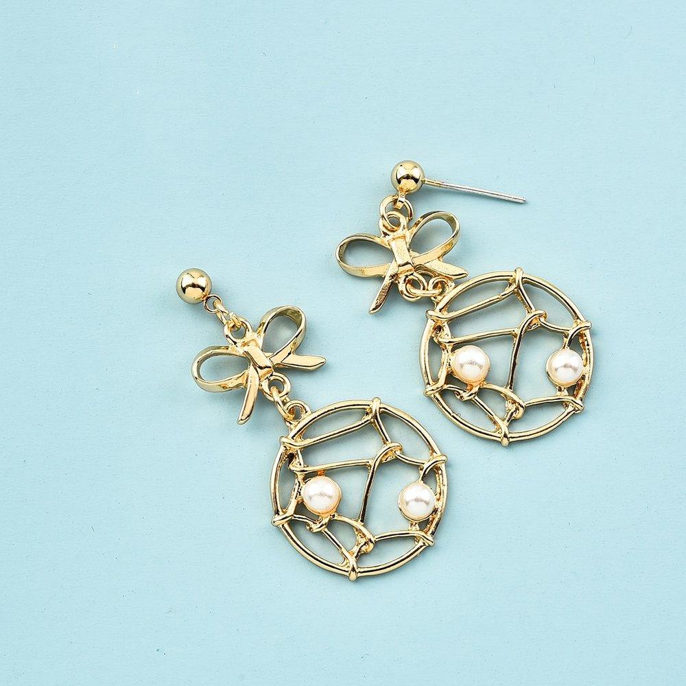 Boucles d'oreilles pendantes en métal - SHEIN - Modalova