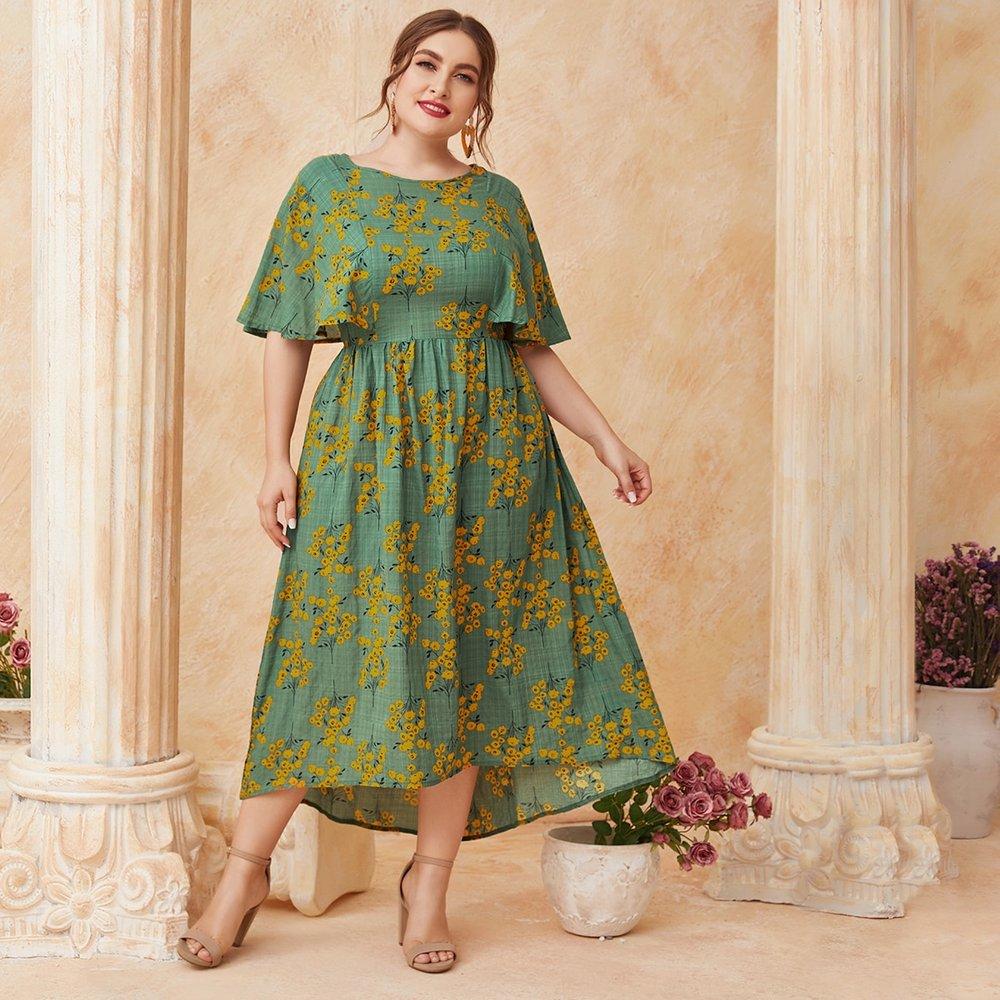 Robe trapèze fleurie - SHEIN - Modalova