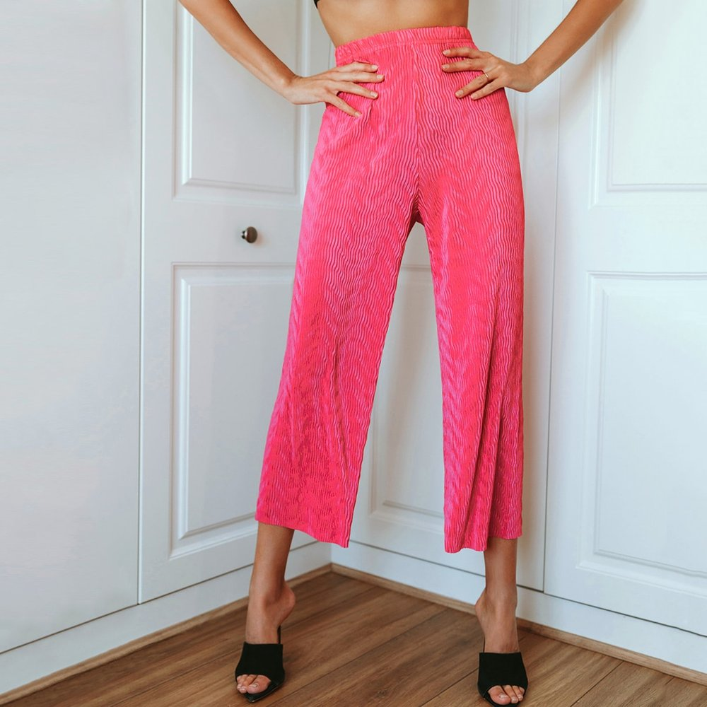 Pantalon jupe-culotte unicolore - SHEIN - Modalova