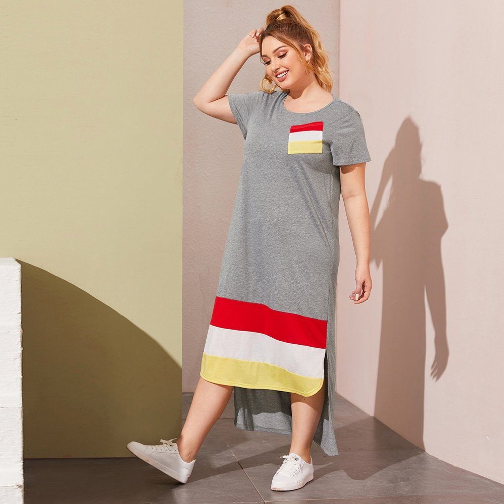 Robe t-shirt asymétrique - SHEIN - Modalova