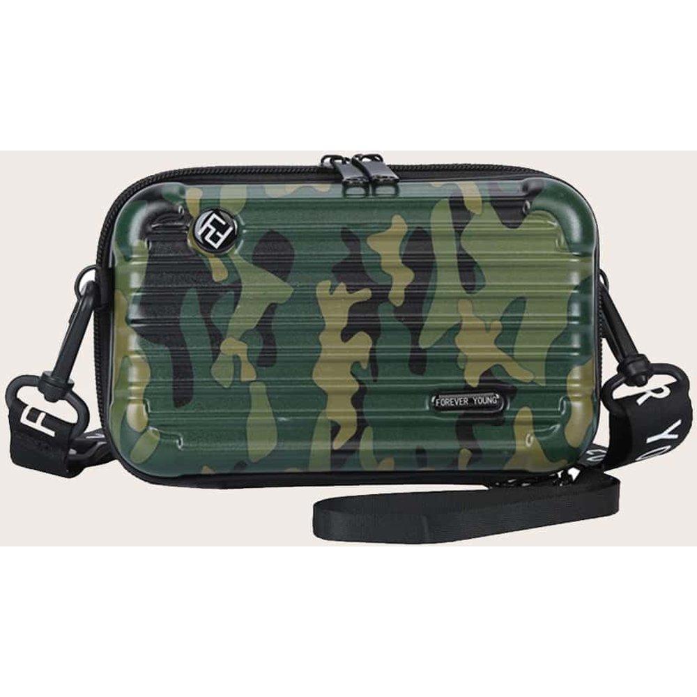 Sac à bandoulière design valise à imprimé camouflage - SHEIN - Modalova
