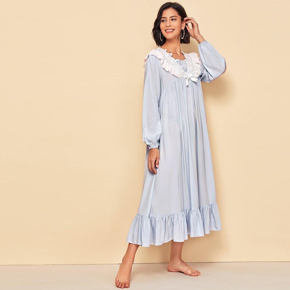 Robe de nuit avec dentelle - SHEIN - Modalova