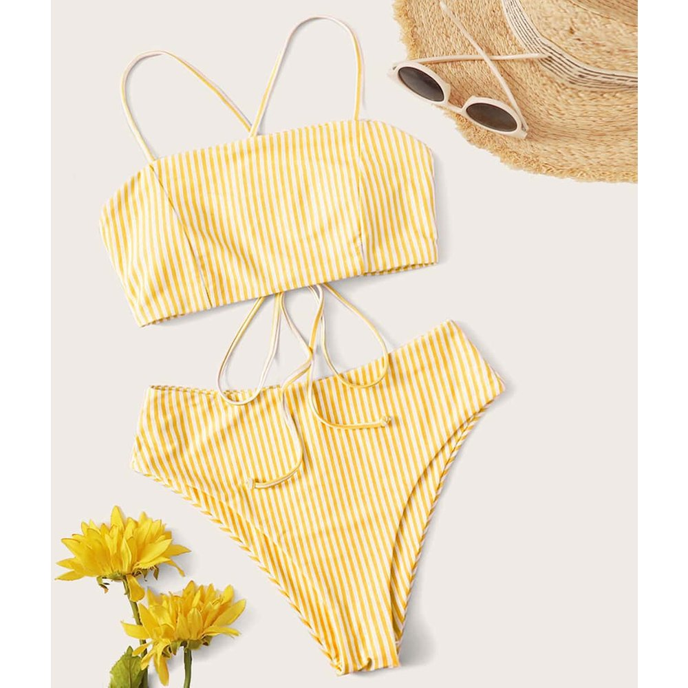 Bikini rayé - SHEIN - Modalova