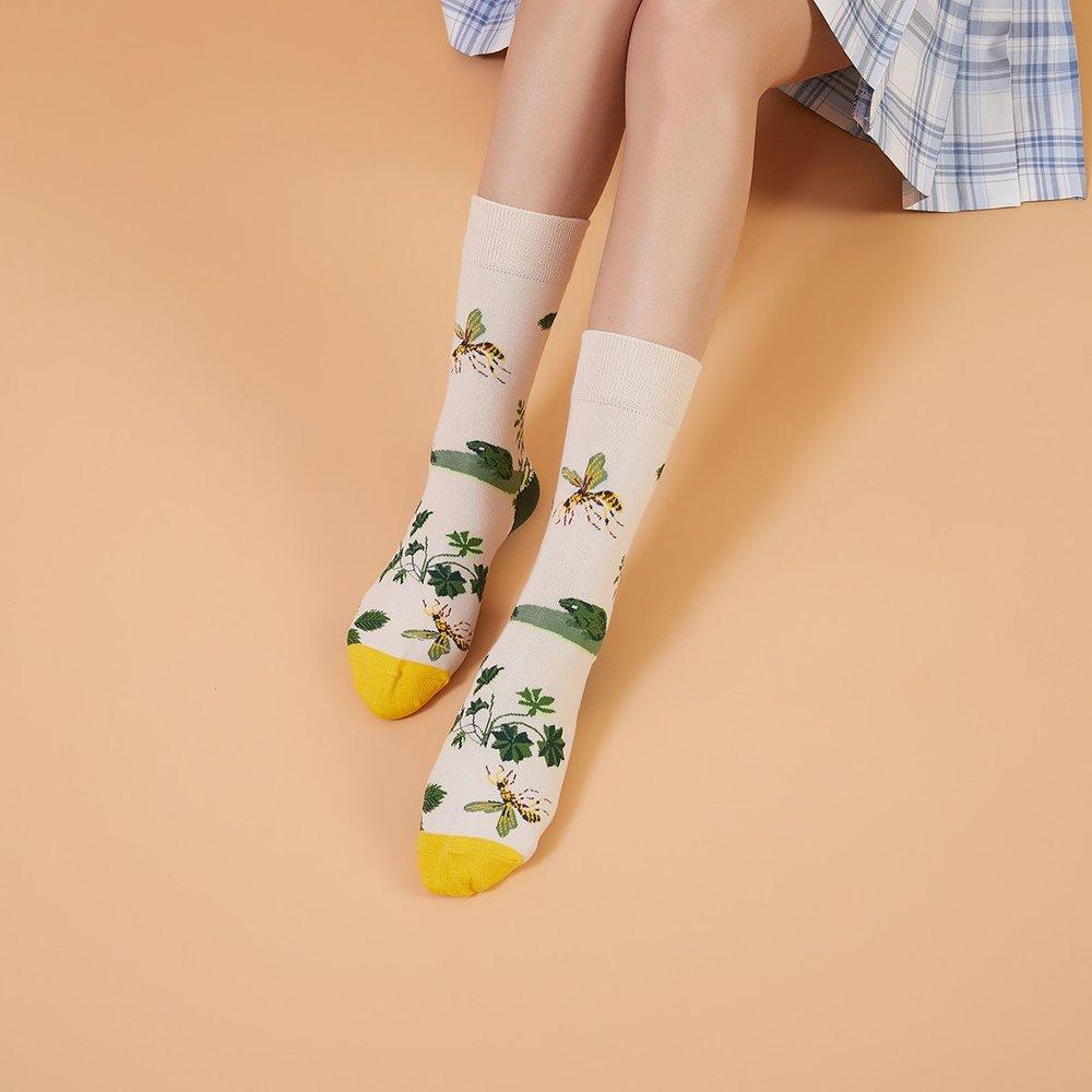 Chaussettes à motif plante - SHEIN - Modalova