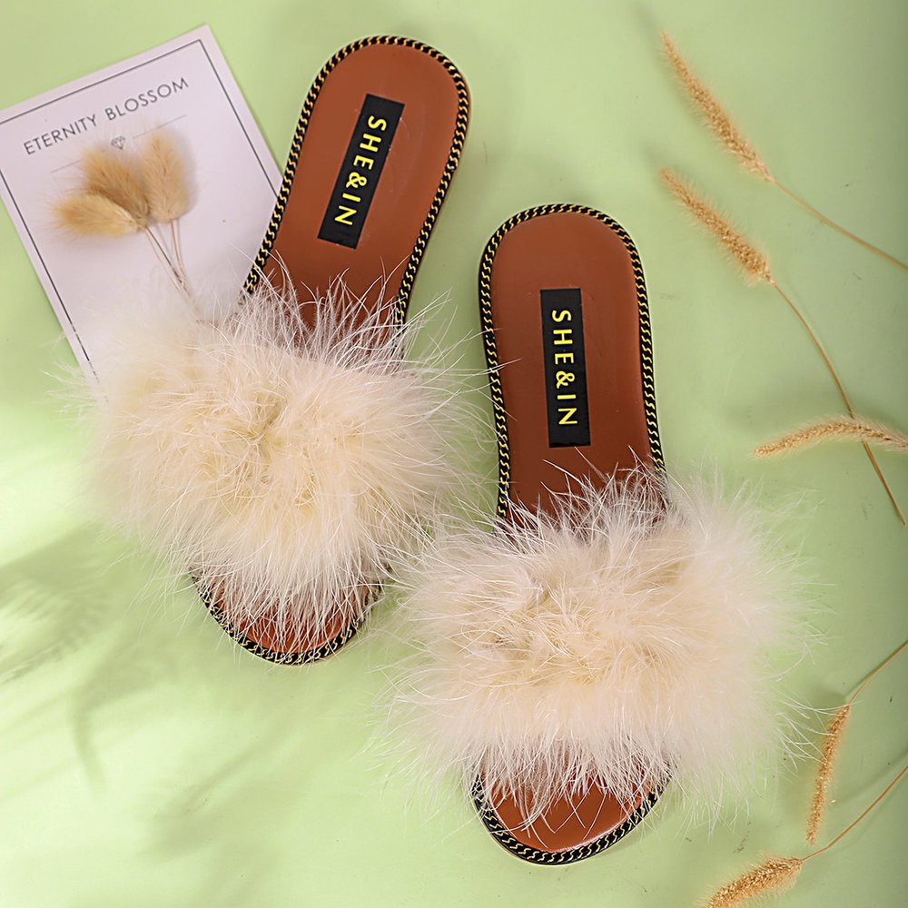 Pantoufles avec fourrure synthétique - SHEIN - Modalova