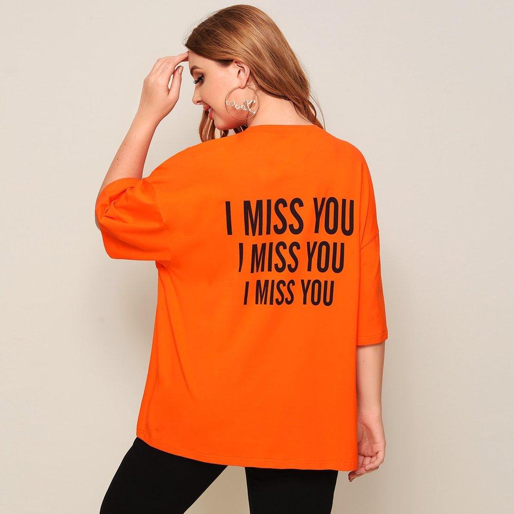T-shirt oversize à imprimé - SHEIN - Modalova