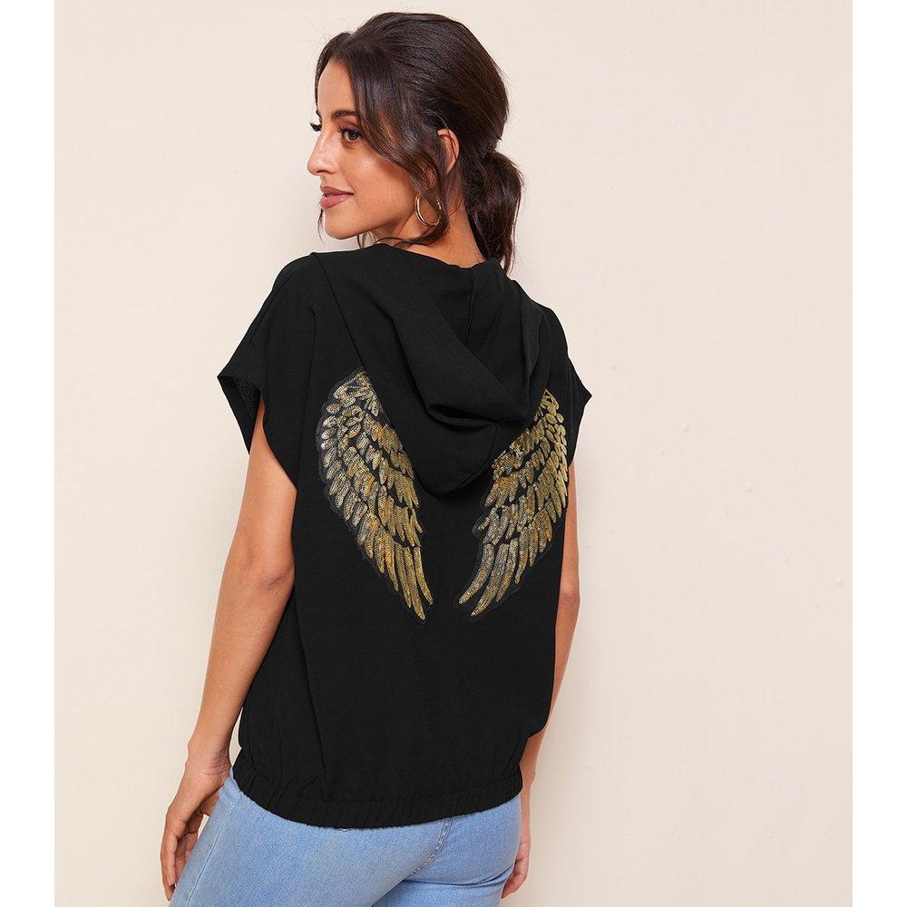 Veste à capuche zippée à sequins - SHEIN - Modalova