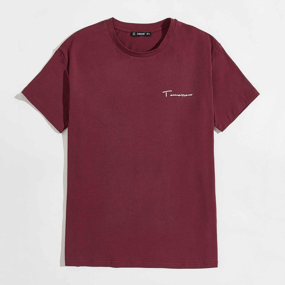 T-shirt à lettres - SHEIN - Modalova