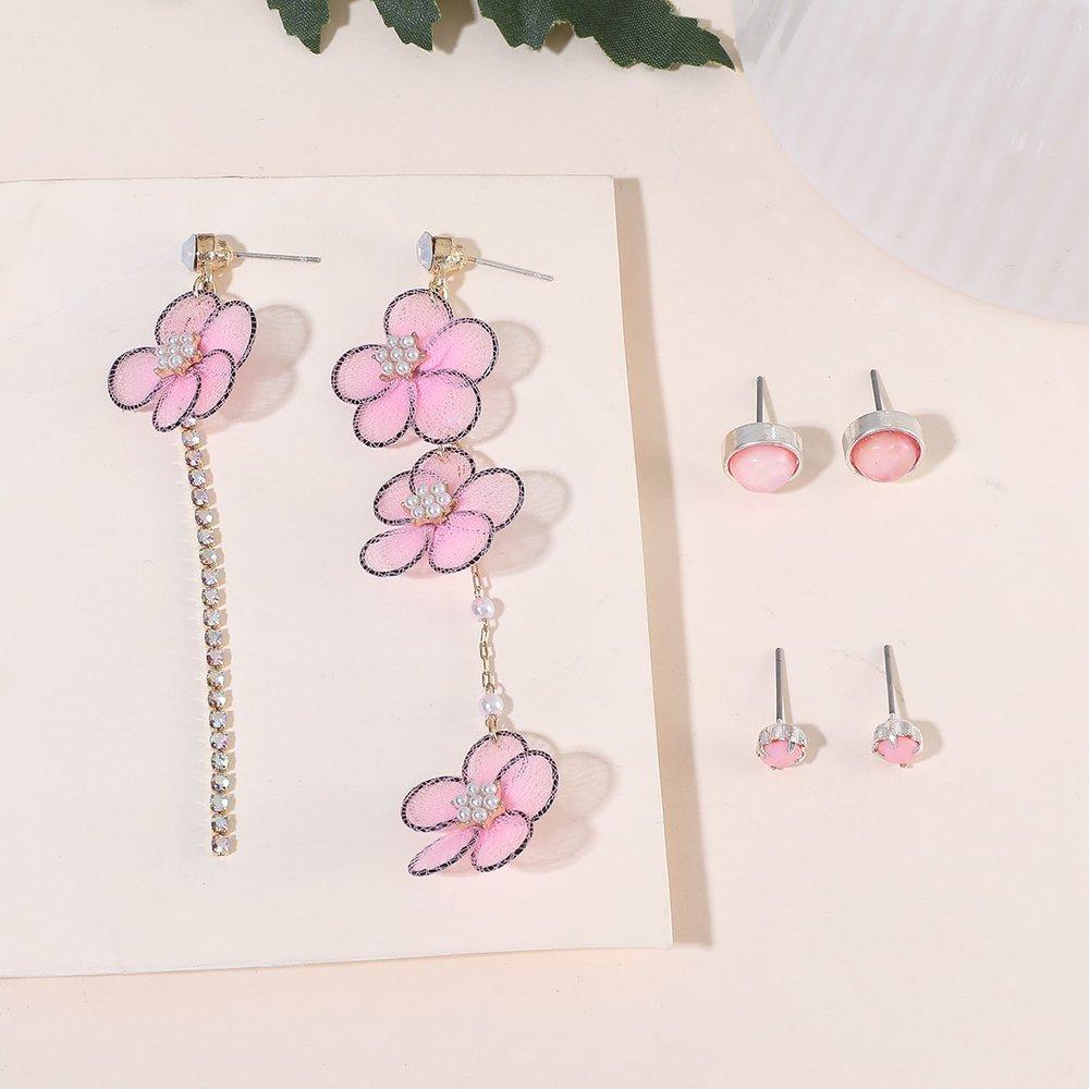 Paires Boucles d'oreilles avec fleurs - SHEIN - Modalova