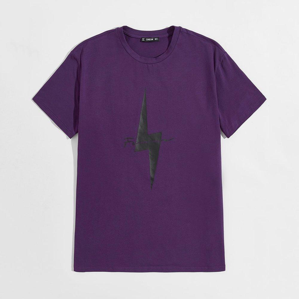 T-shirt à motif géométrique - SHEIN - Modalova