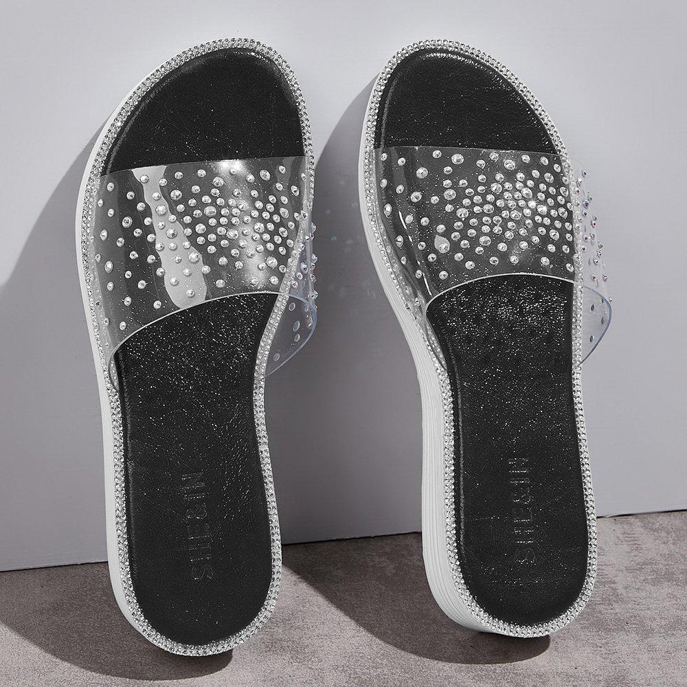 Pantoufles avec strass - SHEIN - Modalova