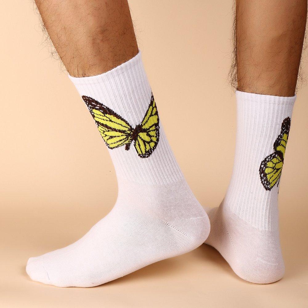 Honmme Chaussettes à motif papillon - SHEIN - Modalova