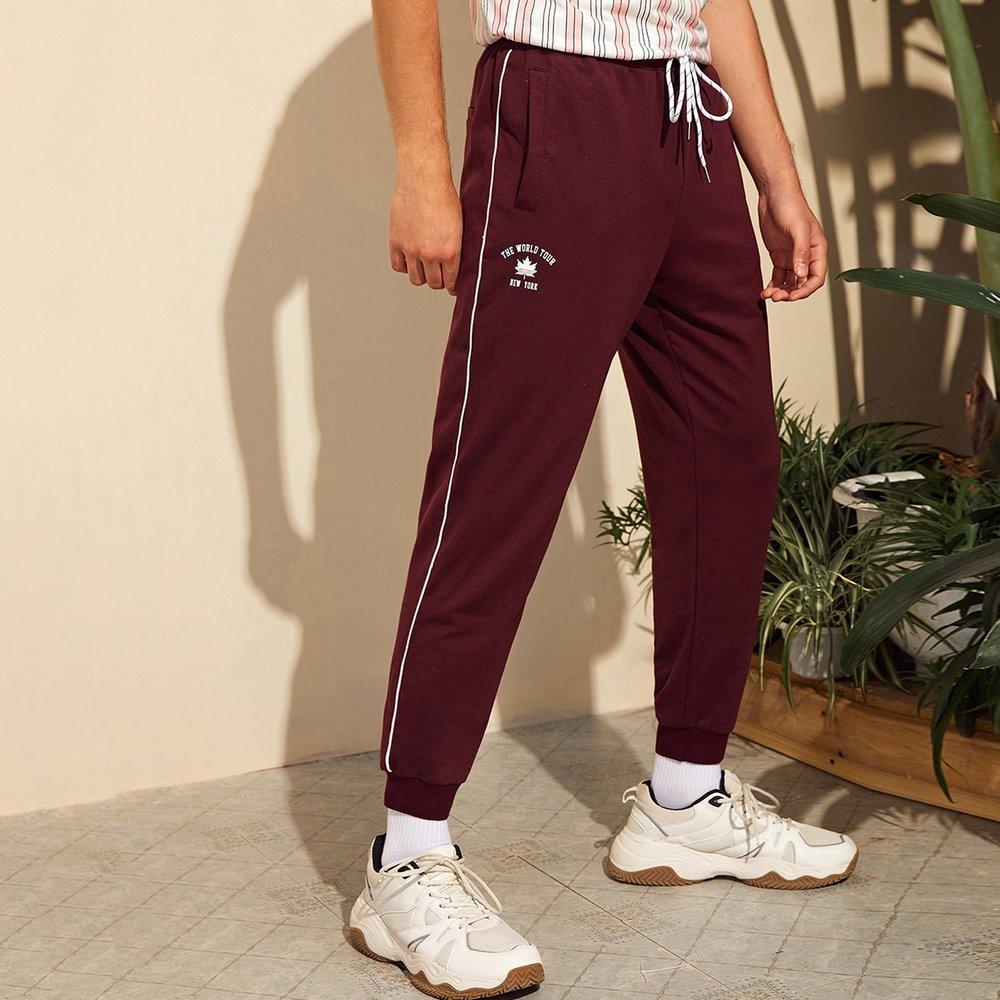 Pantalon de survêtement à motif lettre - SHEIN - Modalova