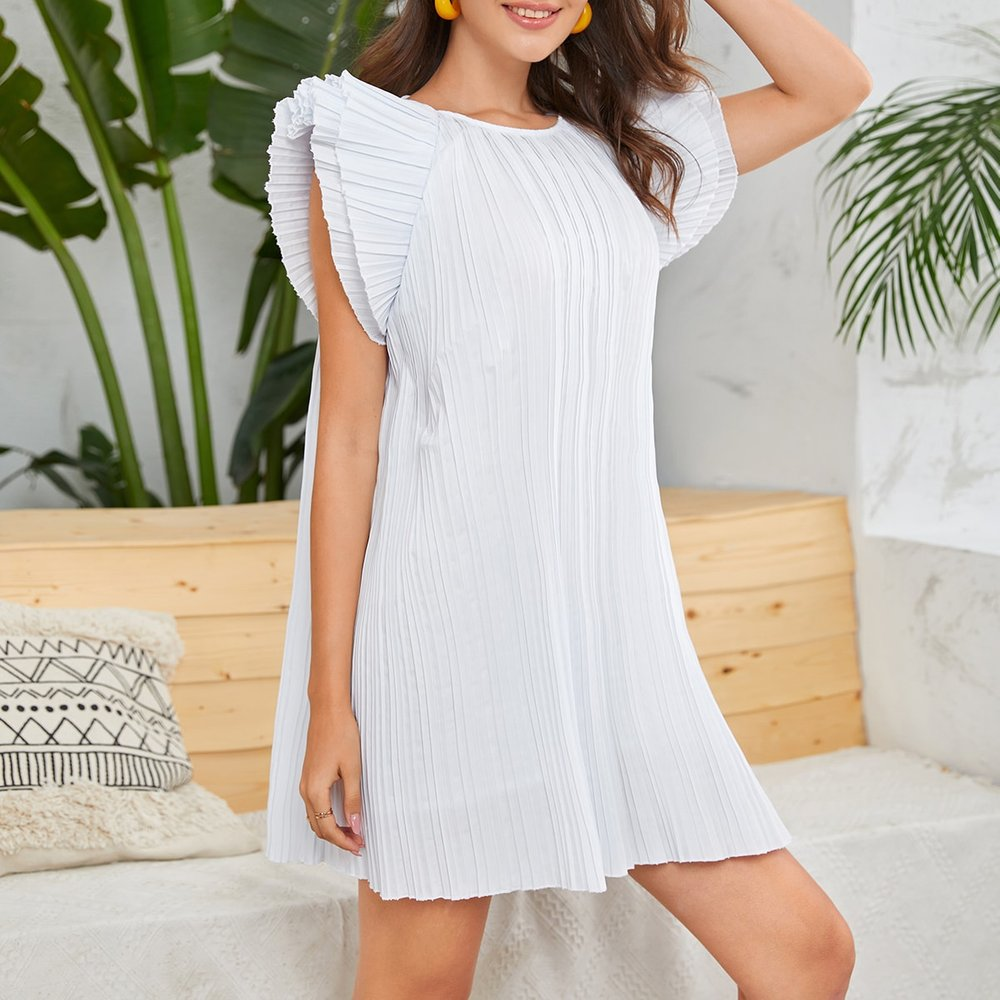 Robe plissée - SHEIN - Modalova