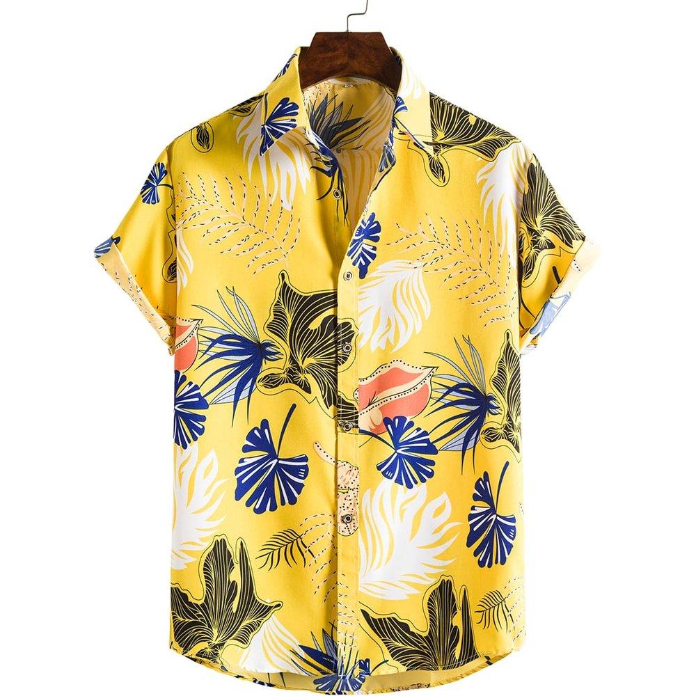 Chemise à imprimé tropical - SHEIN - Modalova