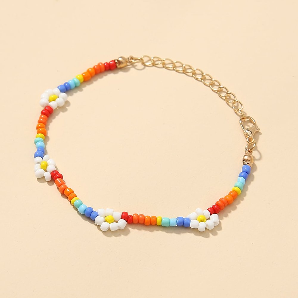 Bracelet avec perle versicolore - SHEIN - Modalova