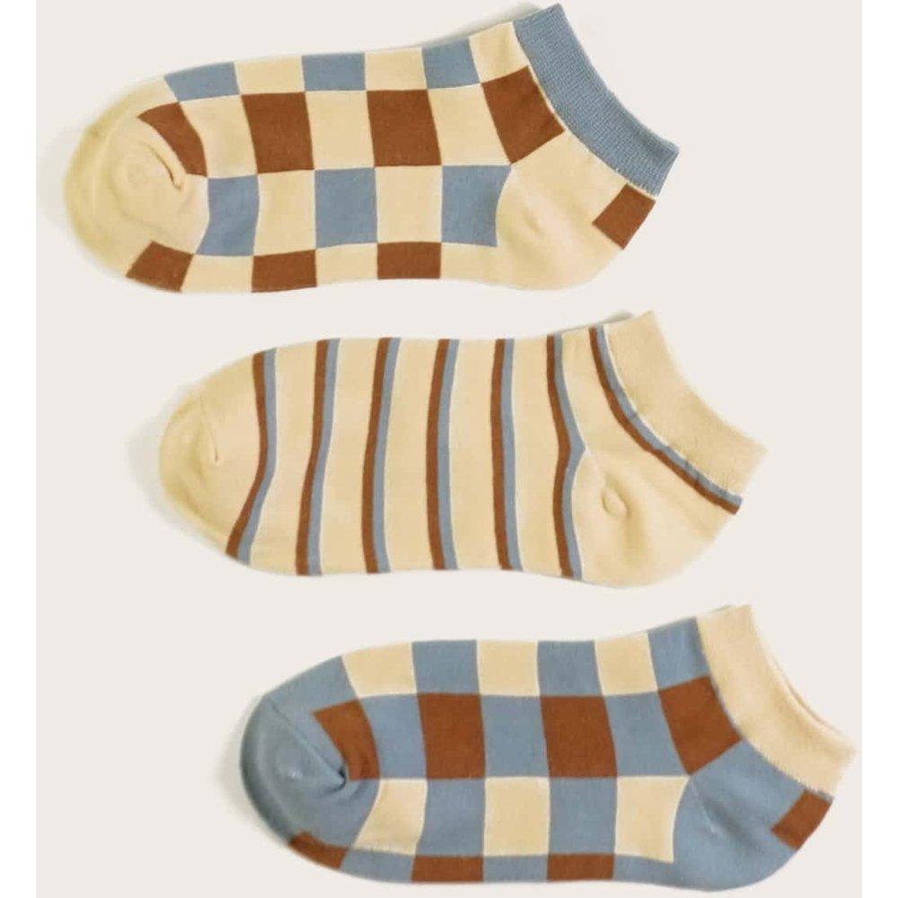 Paires Chaussettes à carreaux - SHEIN - Modalova