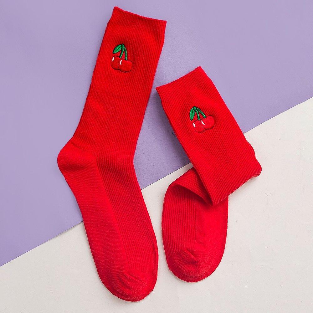 Chaussettes avec broderie - SHEIN - Modalova