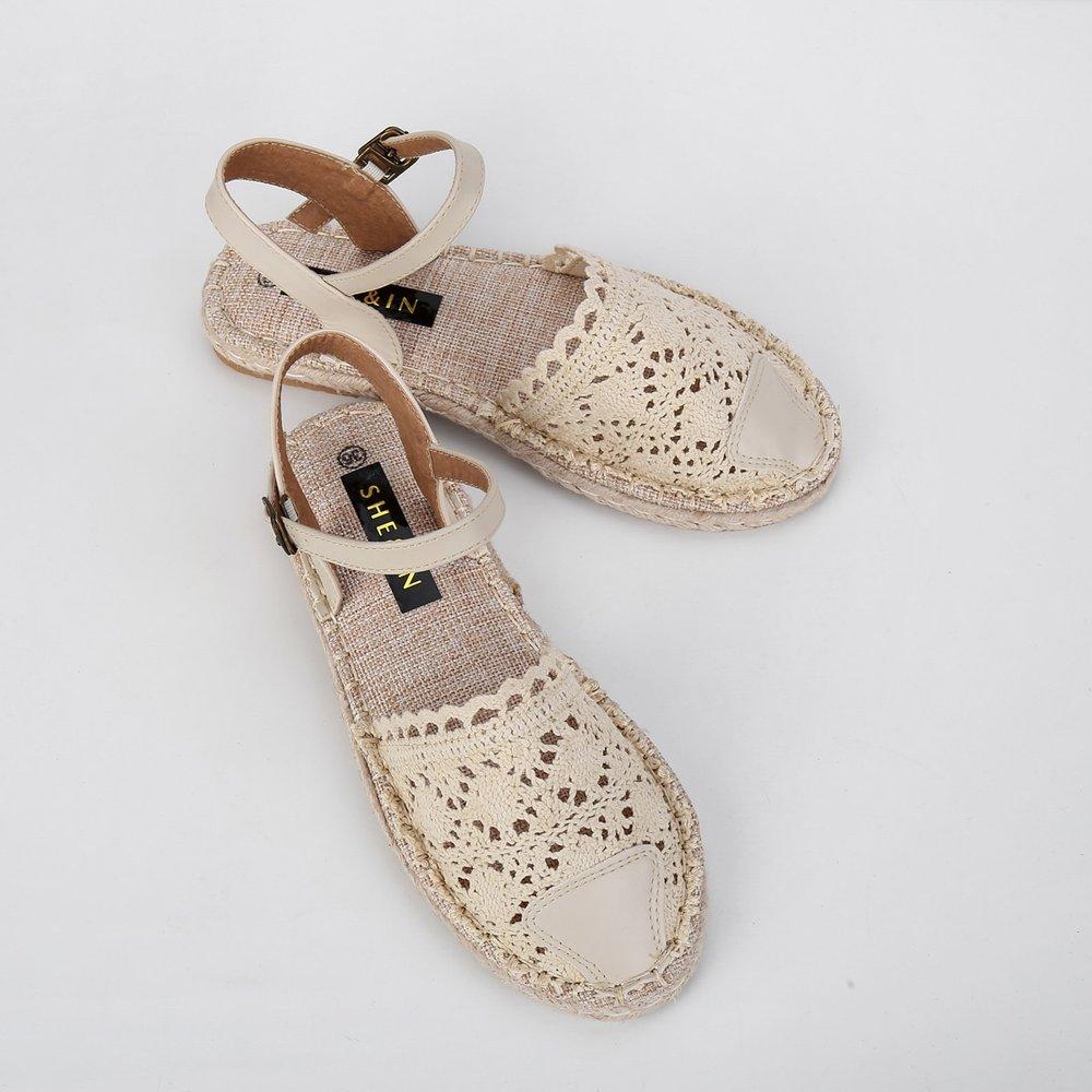 Chaussures espadrilles en dentelle - SHEIN - Modalova