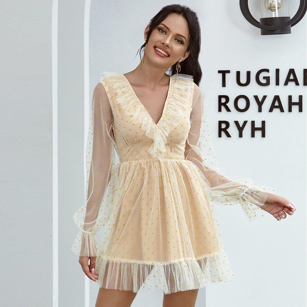 Double Crazy Robe en tulle à pois - SHEIN - Modalova
