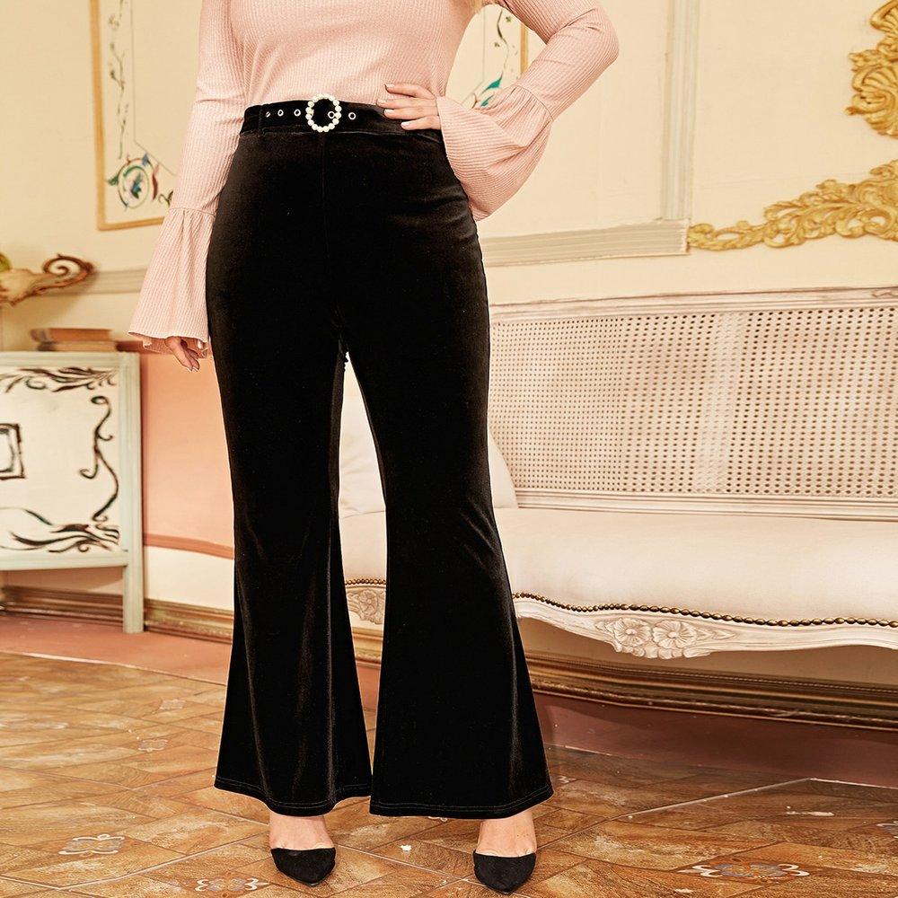 Pantalon en velours avec perles - SHEIN - Modalova