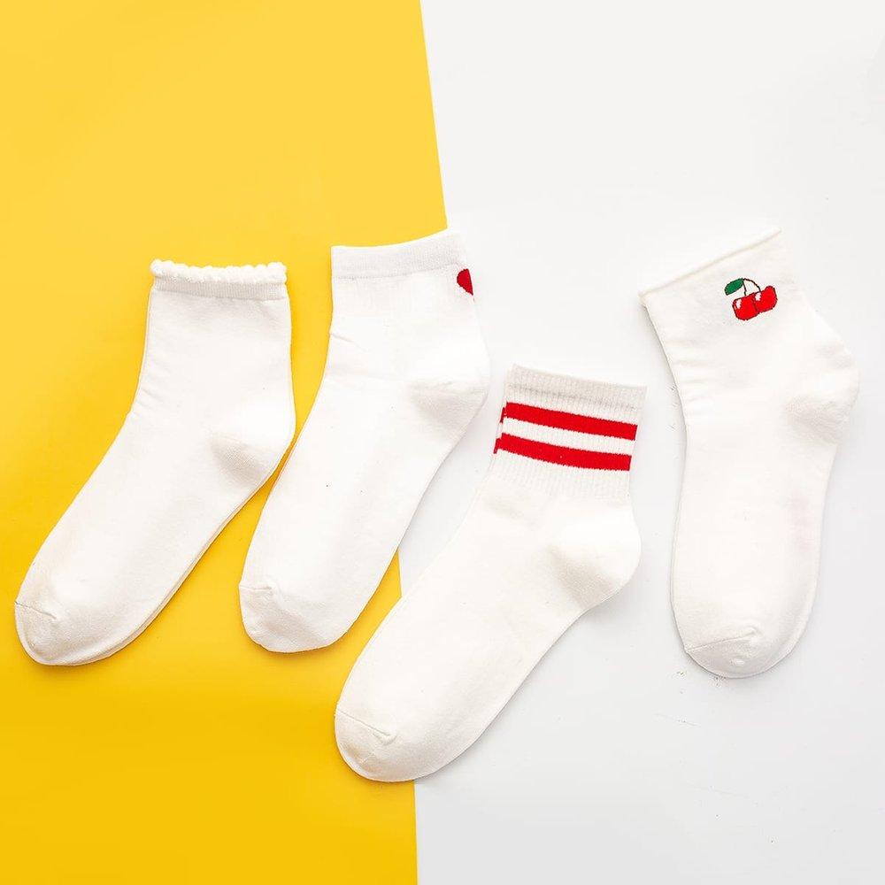 Paires Chaussettes à motif rayures - SHEIN - Modalova