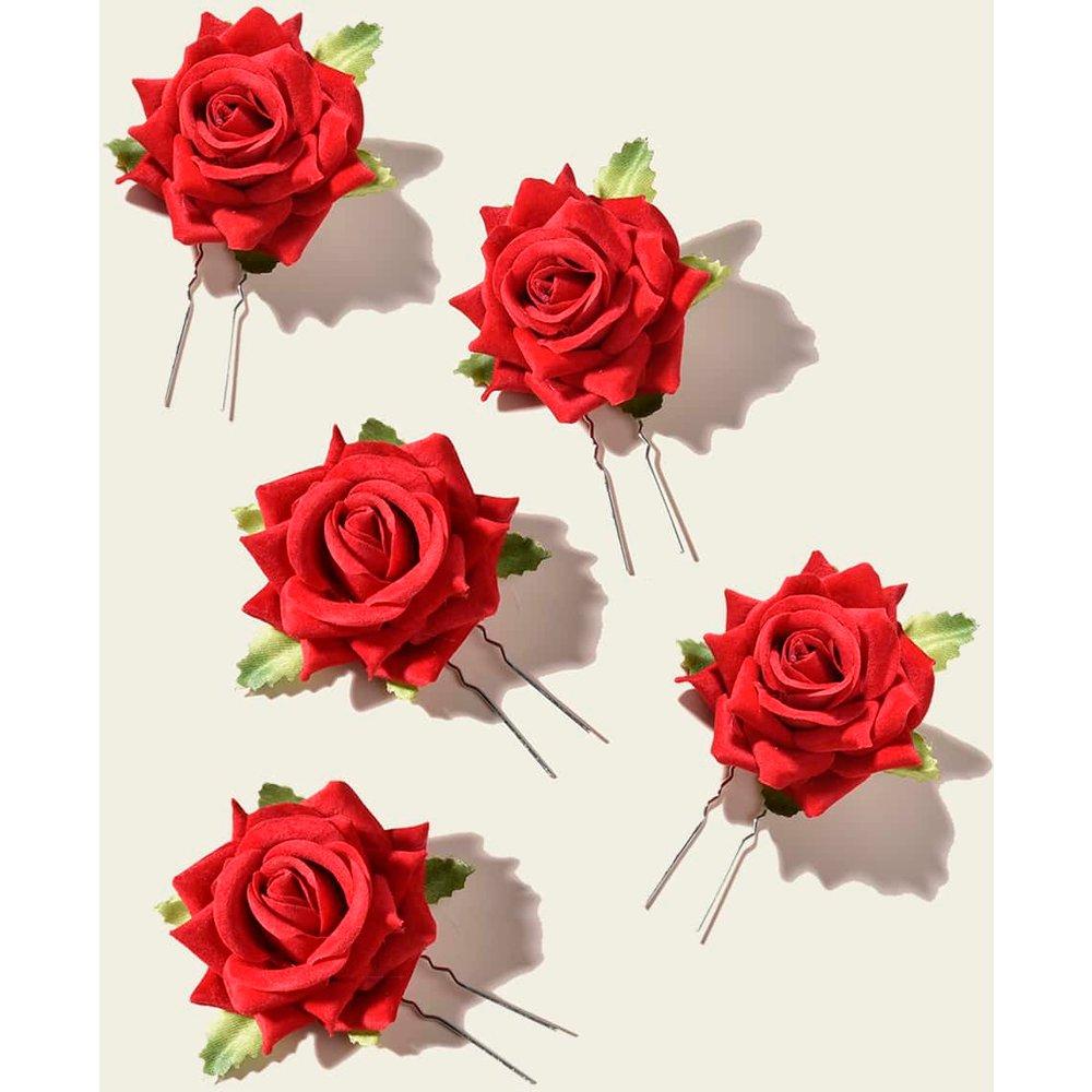 Pièces Pince à cheveux avec rose - SHEIN - Modalova