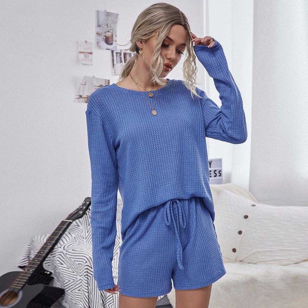 T-shirt & short avec nœud - SHEIN - Modalova