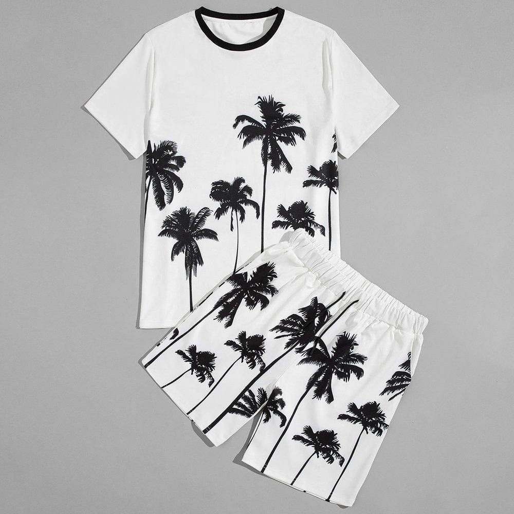 Ensemble t-shirt à imprimé et short - SHEIN - Modalova