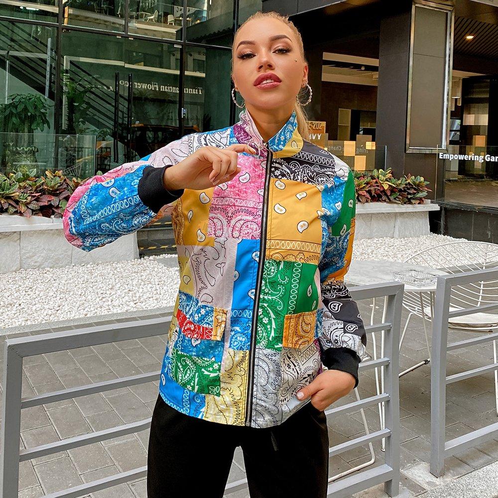 Veste zippée à imprimé - SHEIN - Modalova