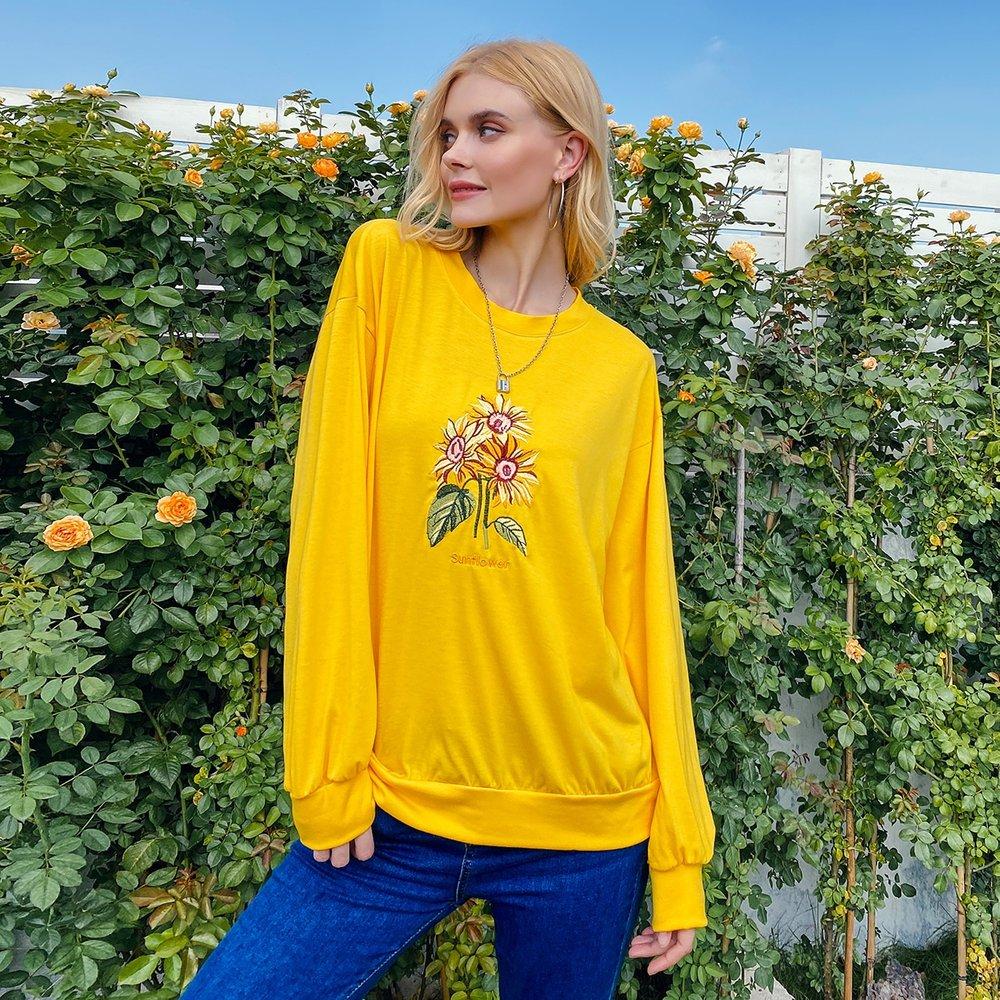 Sweat-shirt avec broderies - SHEIN - Modalova