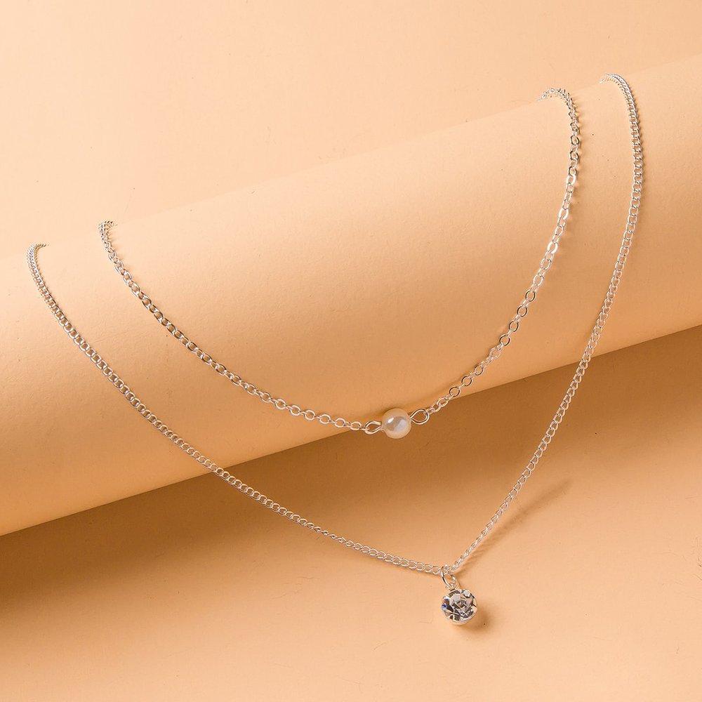 Collier à perle et strass - SHEIN - Modalova