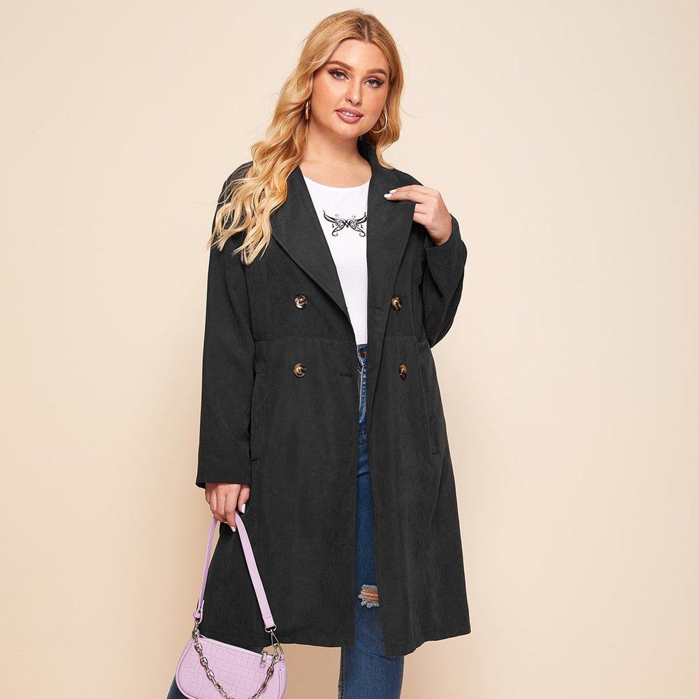 Manteau long avec boutons - SHEIN - Modalova