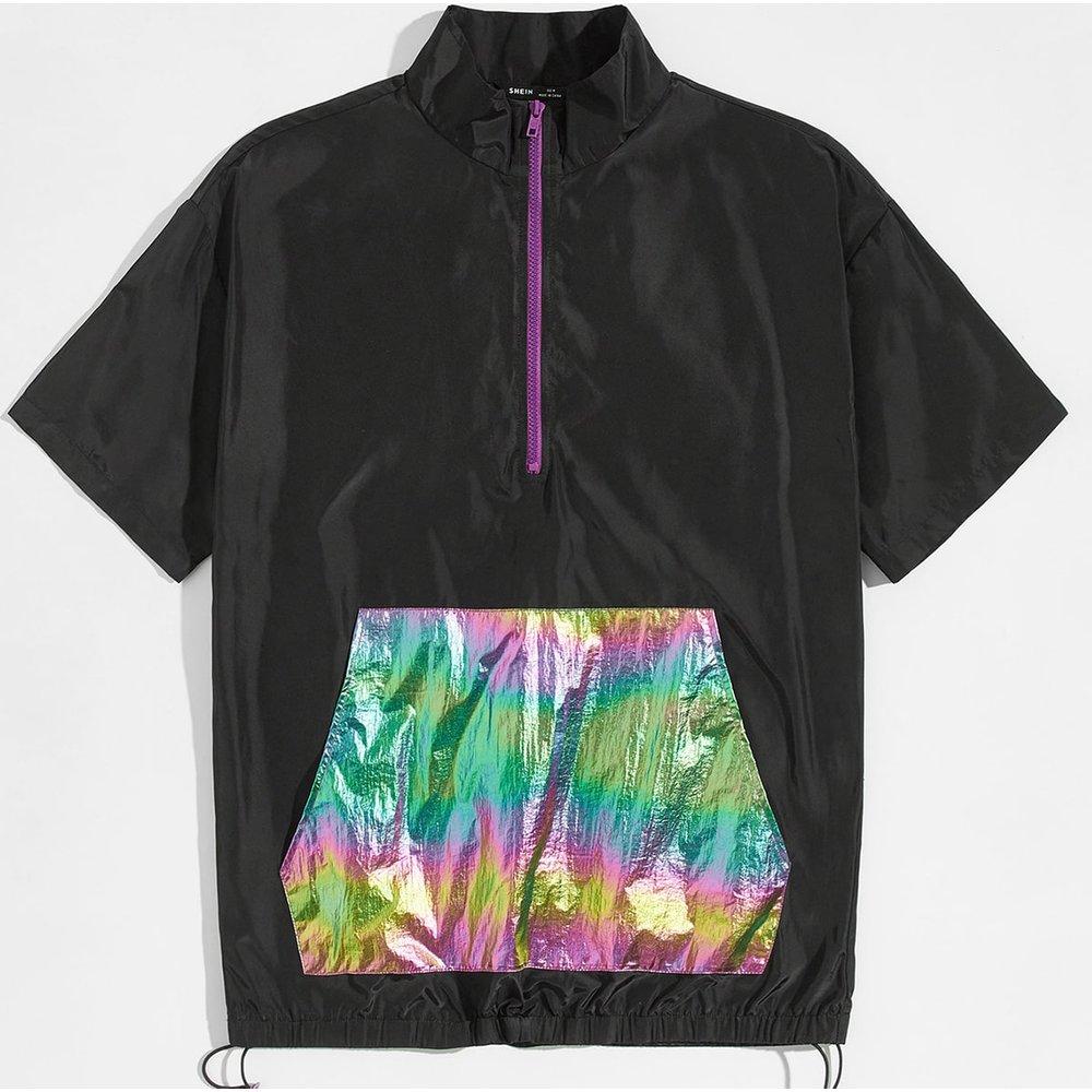 Veste coupe-vent zippée avec poche - SHEIN - Modalova