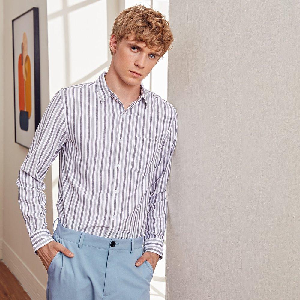 Chemise rayée avec poche - SHEIN - Modalova