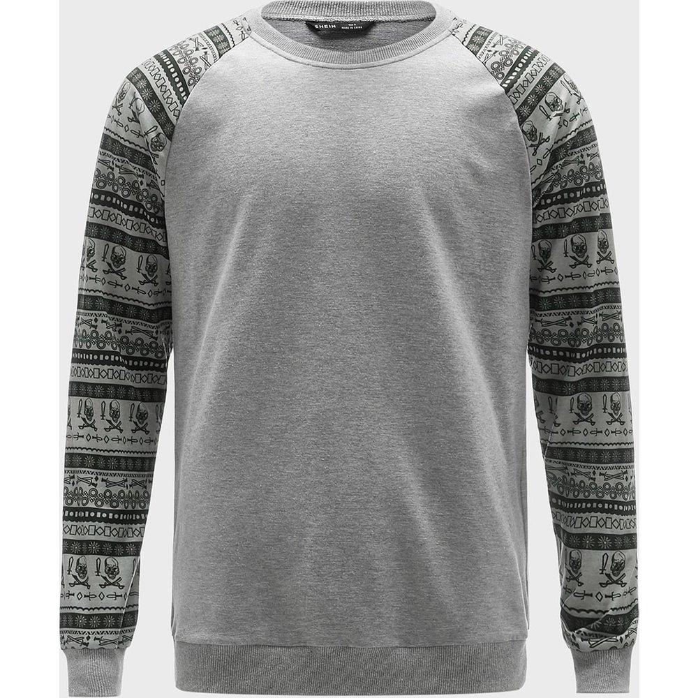 Sweat-shirt à imprimé tribal - SHEIN - Modalova