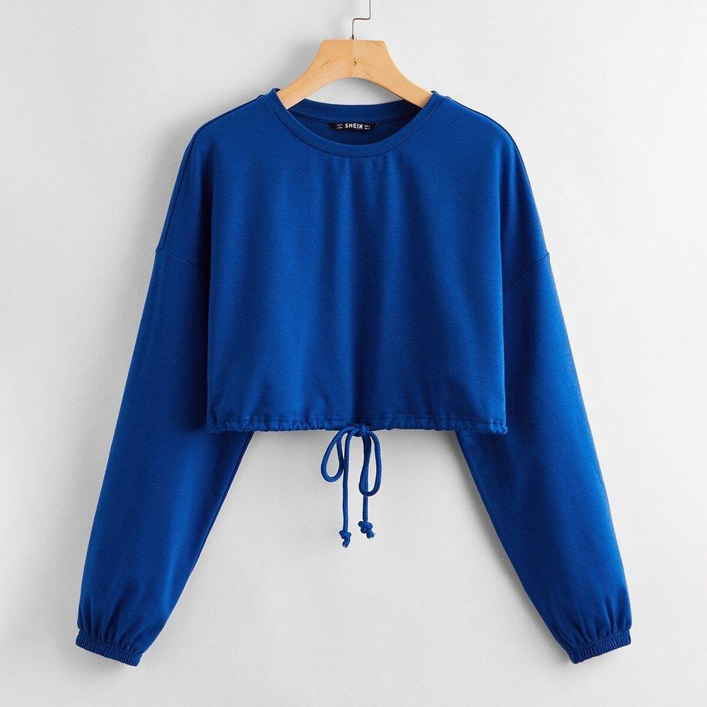 Sweat-shirt avec cordon - SHEIN - Modalova