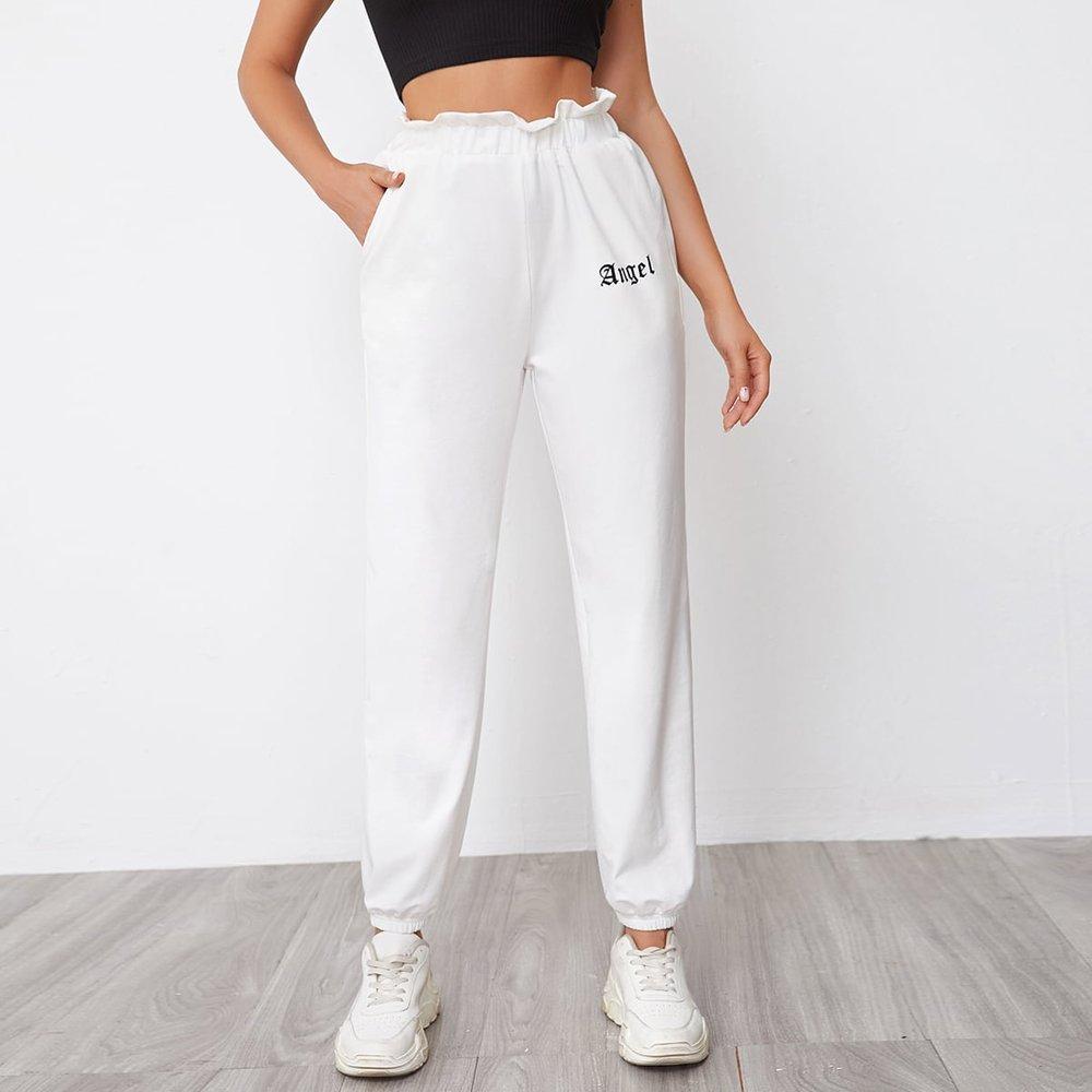 Pantalon de survêtement à lettres - SHEIN - Modalova