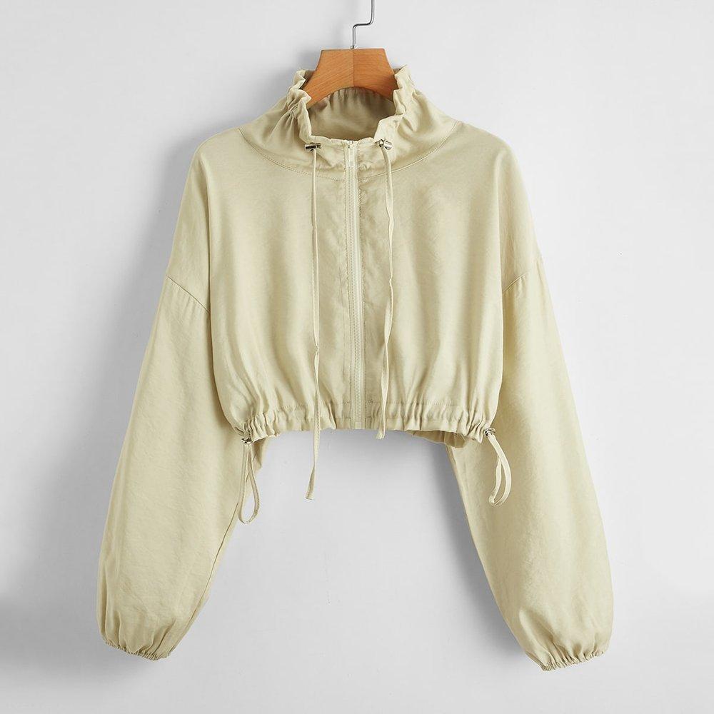 Veste zippée avec cordon - SHEIN - Modalova